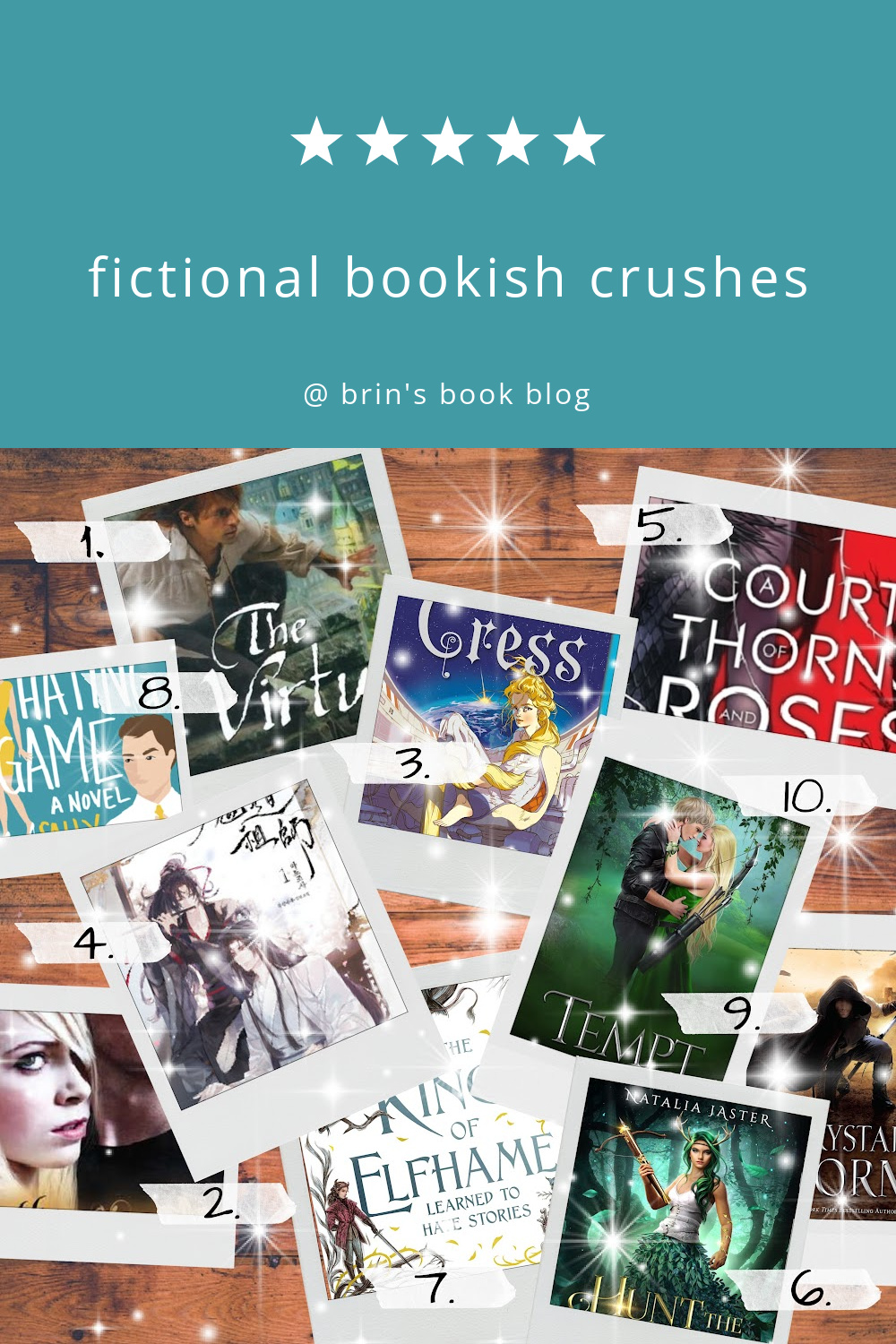 fictional bookish crushes