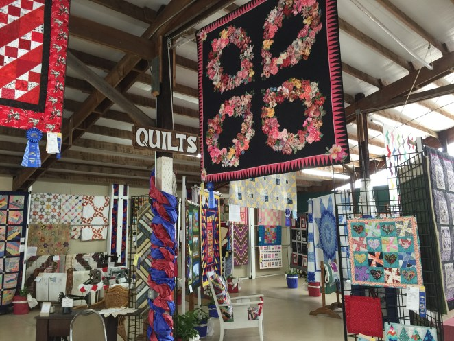 The area displaying all of the quilts
