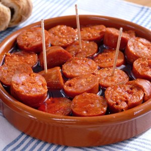 Chorizo a la sidra available for Click and collect at Brio Tapas Bar & Restaurant Clapham.