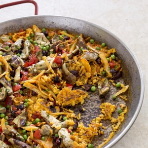 Paella for vegetarians available at Brio Tapas Bar and Restaurant through the click and collect menu.