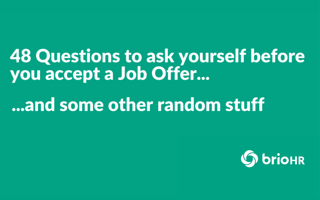 48 Questions To Ask Before Accepting A Job Offer