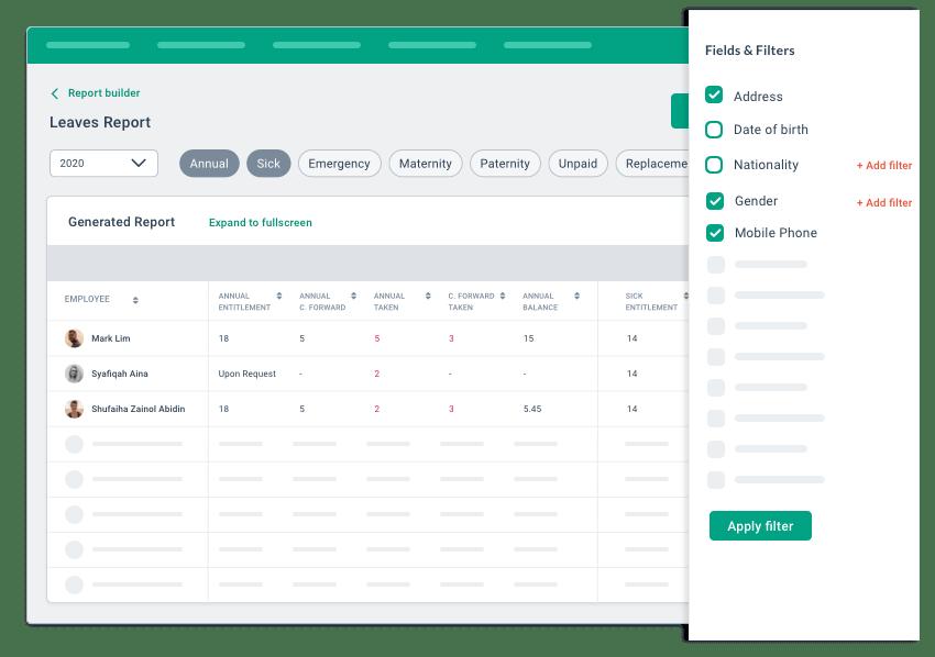 BrioHR custom report