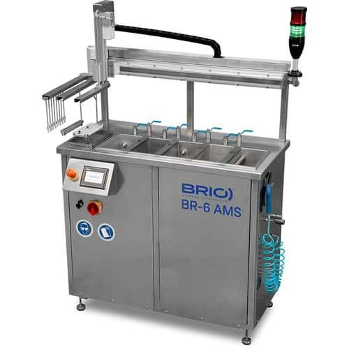 BR-6 AMS Máquina de limpieza por ultrasonidos multietapa automática