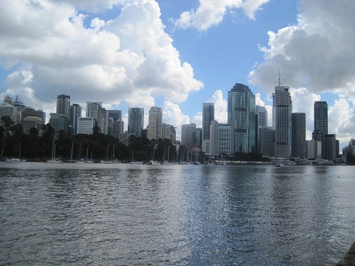 City vom Kangeroo Point aus gesehen