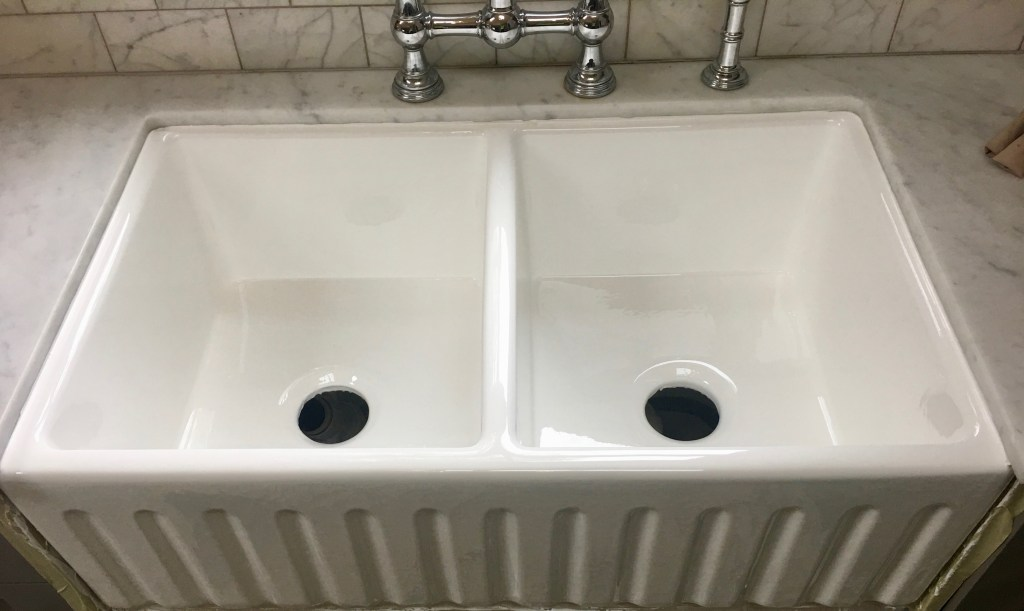 resurfaced sink