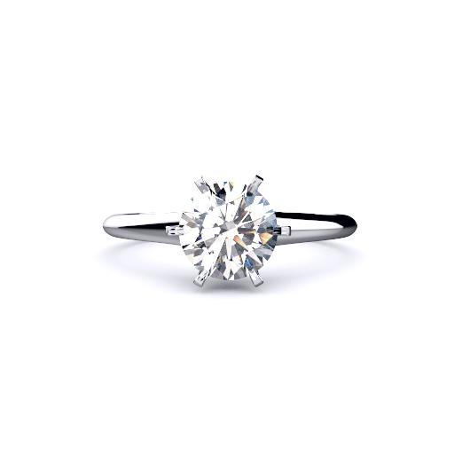 Brisbane Diamond engagement ring 6 claw Classic Brisbane engagement ring in white gold