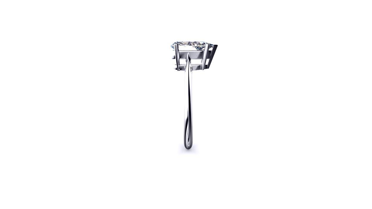 Brisbane diamond engagement ring pear solitaire edge slide