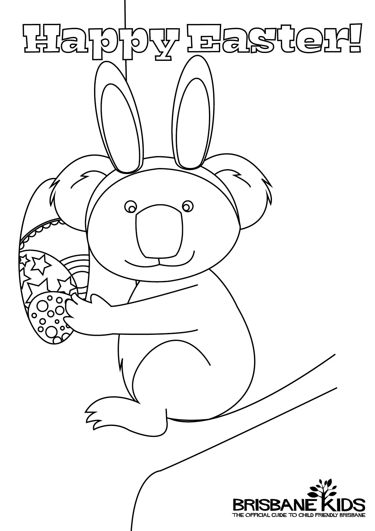 Australian Themed Easter Colouring Pages