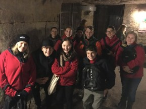 Exploring the quarries of the Catacombs (By Kate)