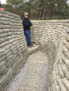 Stu exploring Vimy, Ridge. Trenches from WW1 mostly occupied by the Canadian Corps (pics from Kate)