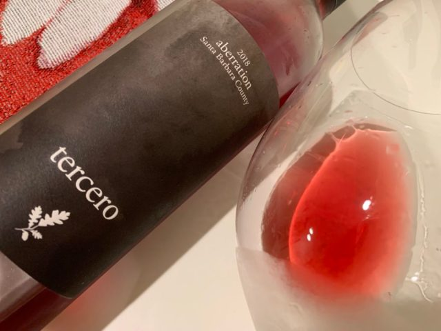 Tercero 2018 aberration: 40% Cinsault, 40% Grenache and 20% Carignane.