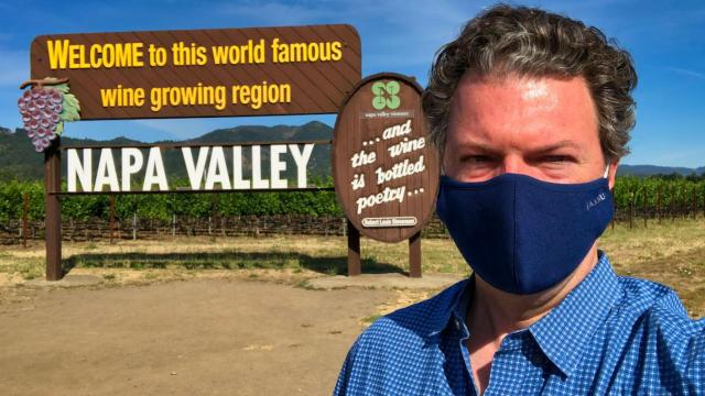 Alder Yarrow takes his life in his hands to file his report on California wine tourism.