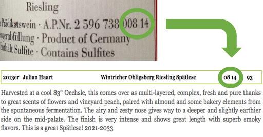 Qualitatswein AP number; moselfinewines.com