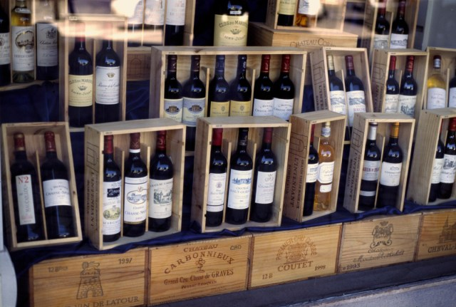 Berndt Fernow - Self-photographed Bottles of Bordeaux Wine in Shop, Bordeaux, France