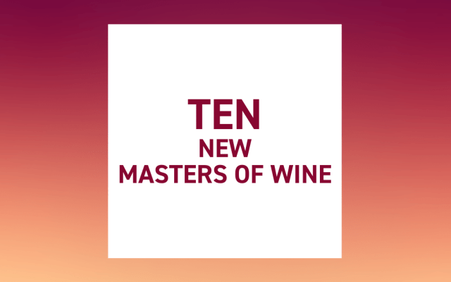 The Institute of Masters of Wine has announced 10 new MWs.