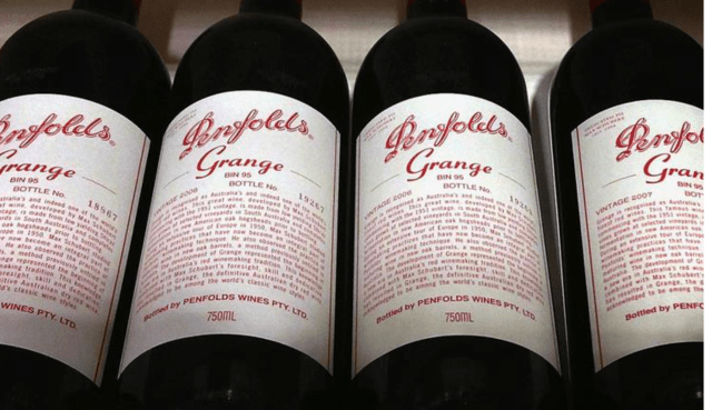 FILE PHOTO: Bottles of Penfolds Grange, a Treasury Wine Estates brand, on sale at a wine shop in Sydney, Australia, August 4, 2014. REUTERS/David Gray