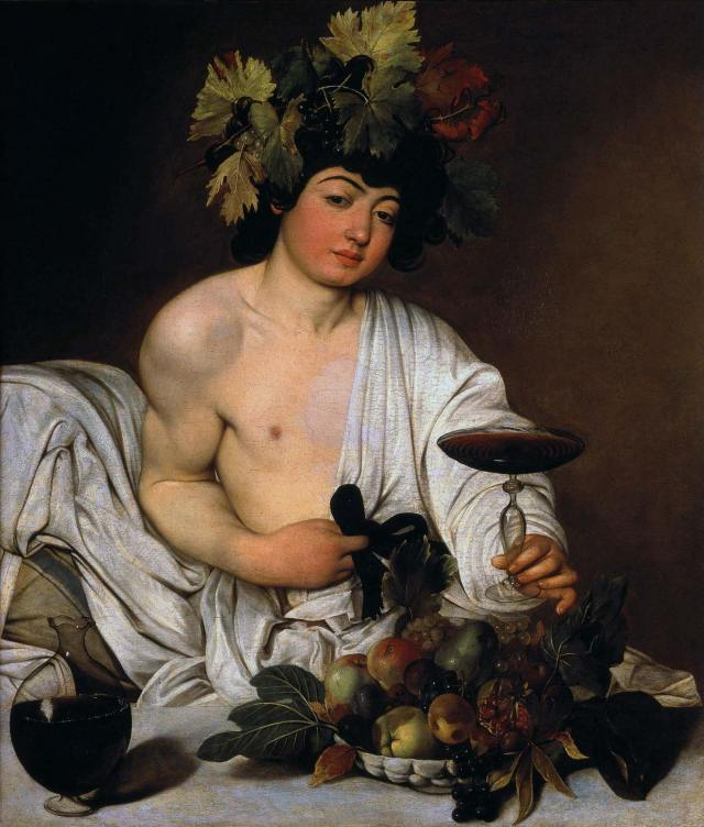 Caravaggio: Bacchus Bacchus, oil on canvas by Caravaggio, 1596–97; in the Uffizi Gallery, Florence, Italy. Fine Art Images/Heritage-Images