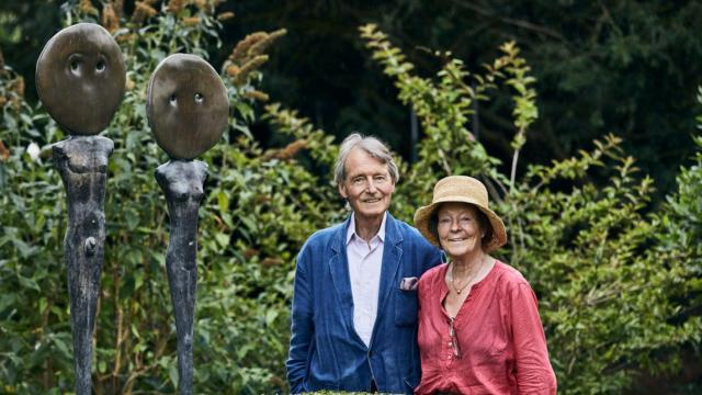 The wine world lost one of its great adventurers last night. Steven Spurrier is pictured above with his wife Bella in their Dorset garden with some of the art he commissioned. All photographs by Lucy Pope.