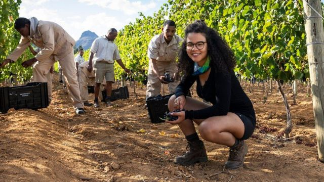 "Kiara Scott, pictured, says it hasn't been a ""comfortable"" year for her winery business-wise"