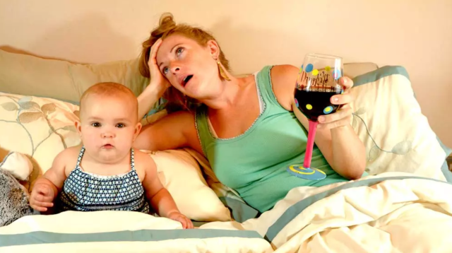The mom wine culture normalizes using alcohol as a way to cope with the struggles of parenthood.