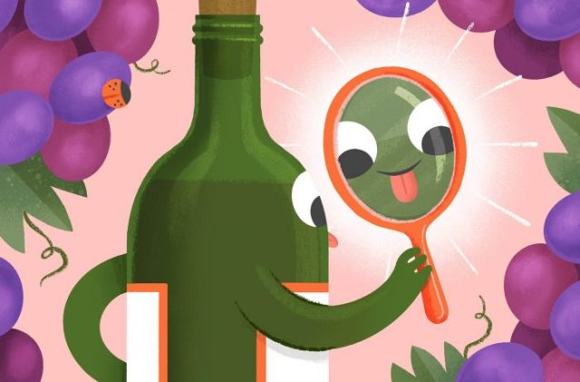 A wine with a good midpalate unfolds and develops on the tongue. / ILLUSTRATION BY ALYSSA NASSNER