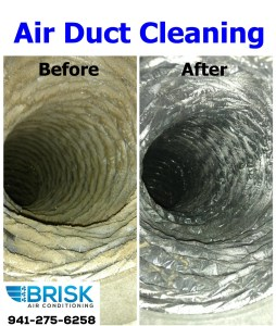 Brisk Air Conditioning Air Duct Cleaning Services Before and After