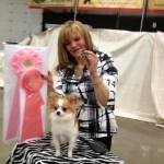 Kimmy's Best Puppy In Show Award, handler, Erika Lanasa