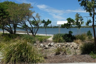 Another pleasant little park is closer to the river. The Caltex refinery at Lytton is on the southern side of the river.