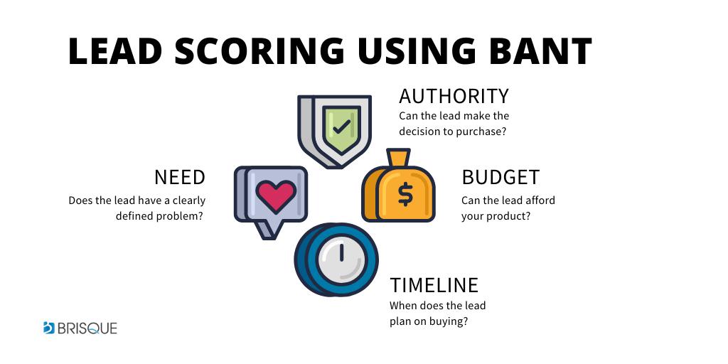 LEAD SCORING BANT - Budget, Authority, Need, Timeline