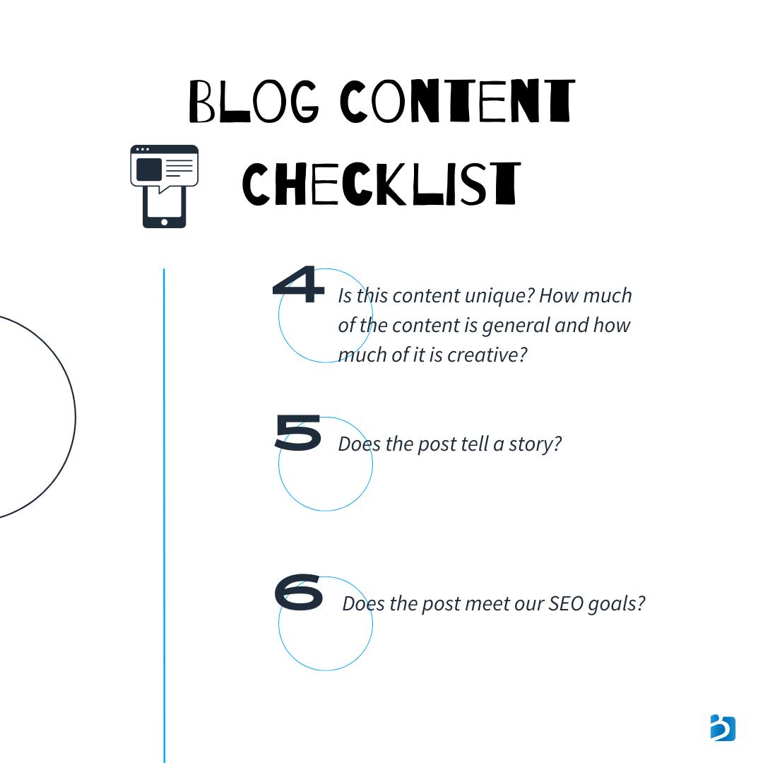 blog publishing checklist