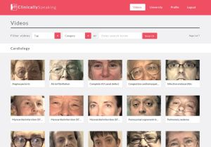 The new Clinically Speaking website features a library of over 300 patient interviews.