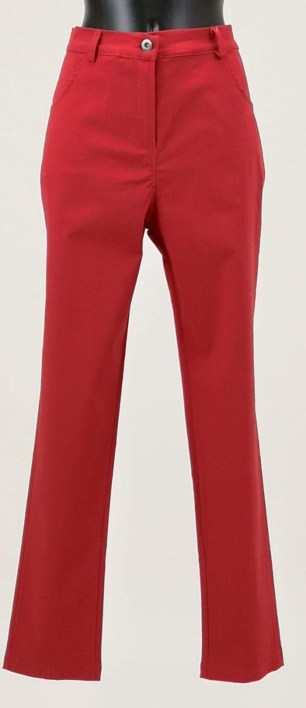 Pantaloni tinta unita con due tasche davanti, Apertura con bottone e cerniera zip