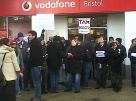 Bristols first 'UK Uncut' action, organised by AFed