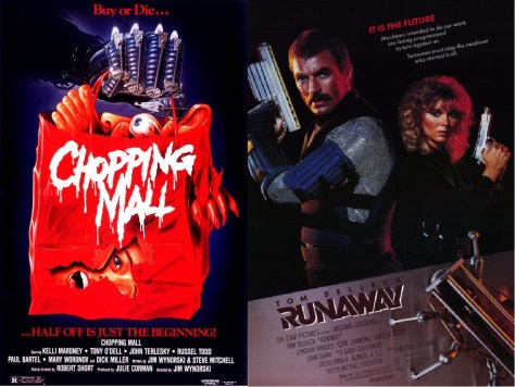 Chopping Mall-Runaway double bill