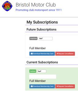 Download membership card