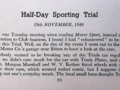 1949 Half-Day Sporting Trial