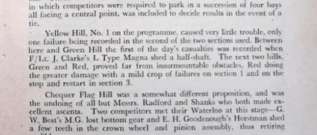 1949 John Bull Cup Trial