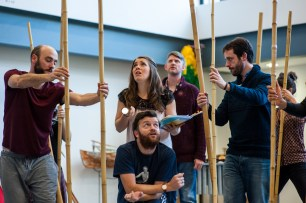 Bethan Nash in rehearsal for Swallows and Amazons - Photo by ShotAway
