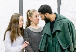 Tilly Steele (left) in rehearsal for The Heresy of Love. Photos by Graham Burke