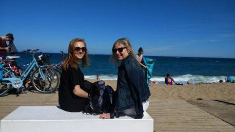 Barceloneta con mi madre