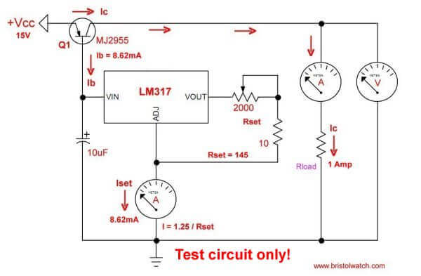 LM317 High Power Constant Current Source Circuit