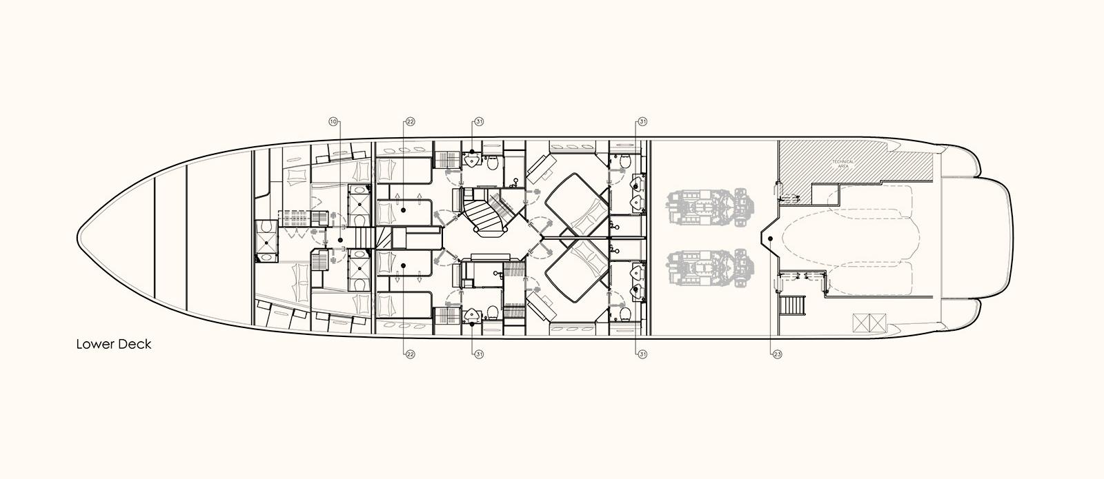 Emoji - Lower Deck Floor Plan