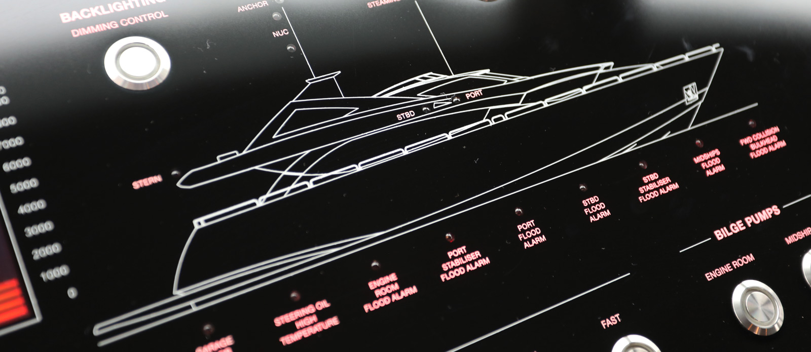 Sunseeker-30-Metre-Yacht-Coraysa-Wheelhouse-Control-Panel