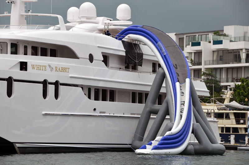 White Rabbit with her Yacht Slide