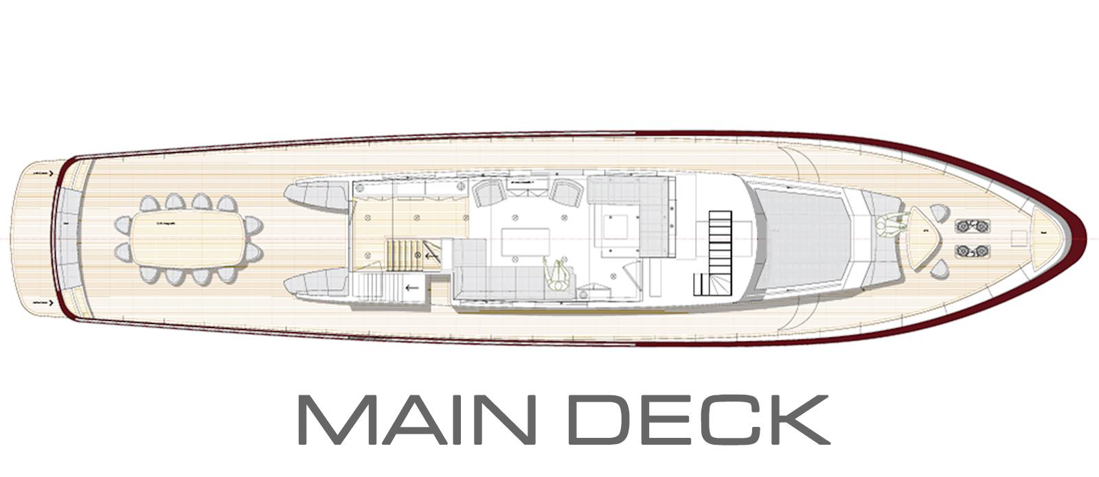 The classic gentleman's yacht 'Conquest of 1966' General Arrangement GA