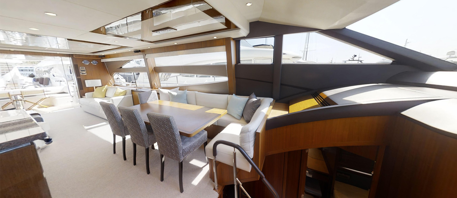 Princess 72 Blonde Moment Dining - For Sale with Bristow-Holmes