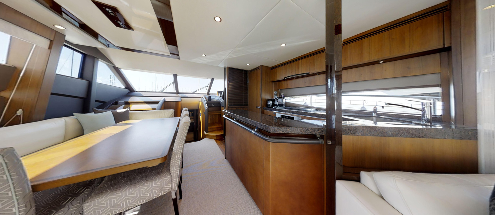 Princess 72 Blonde Moment Galley - For Sale with Bristow-Holmes