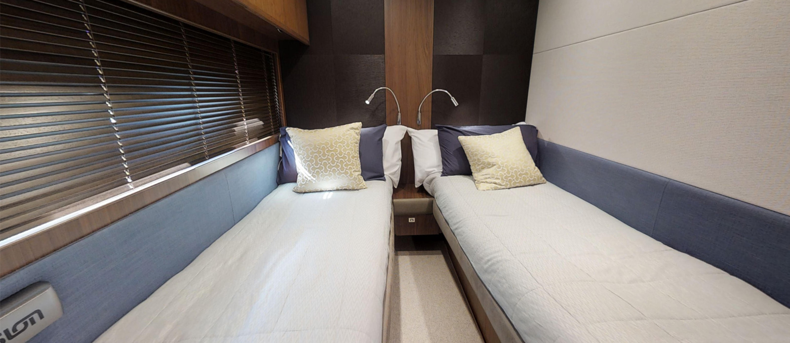 Princess 72 Blonde Moment Twin Cabin - For Sale with Bristow-Holmes