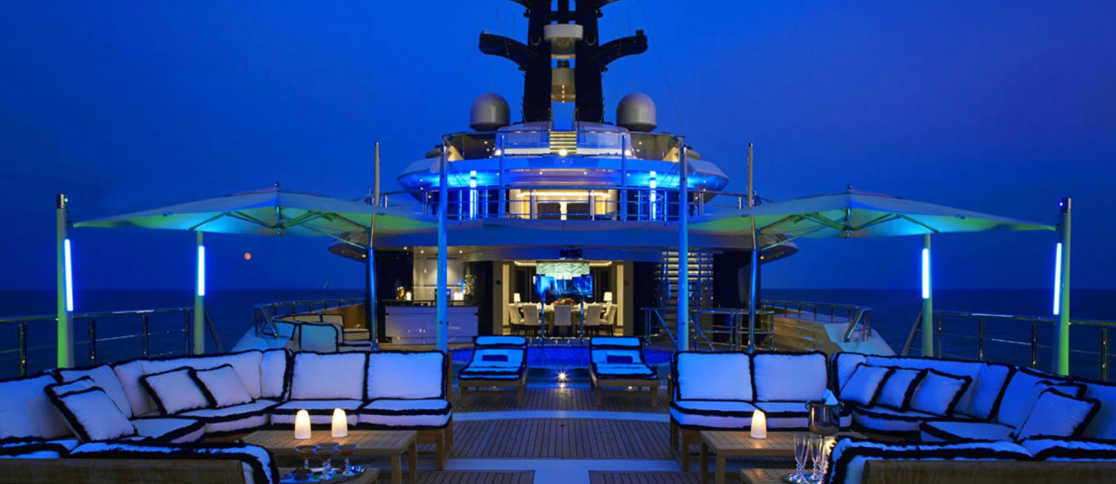 Tranquility - Flybridge at Night