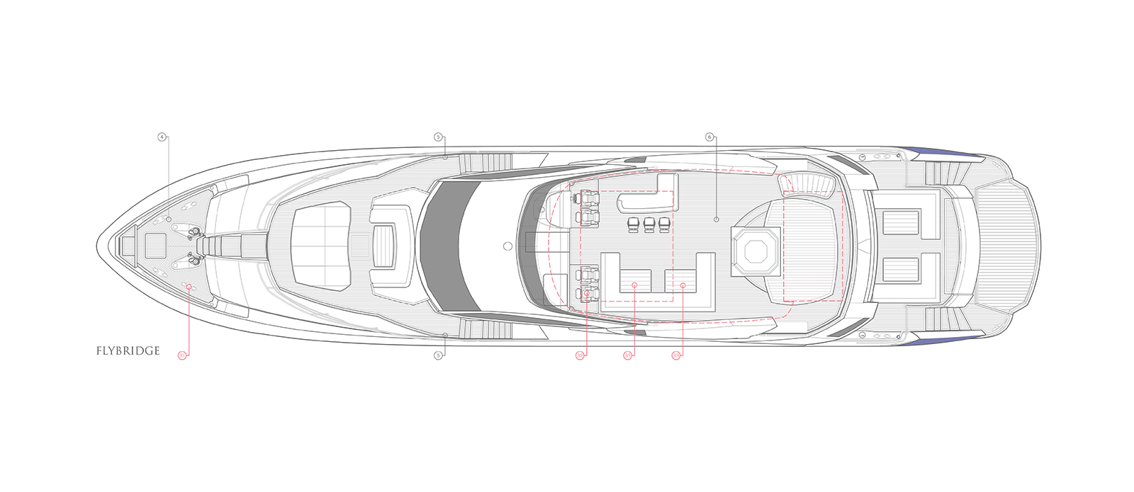 Sunseeker 115 Predator Zulu Flybridge Layout